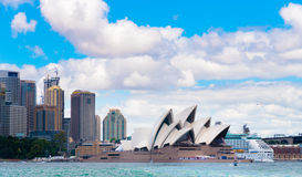Sydney, Australia - January 11, 2014 : View over Opera House and Central Business District skyline Stock Photo