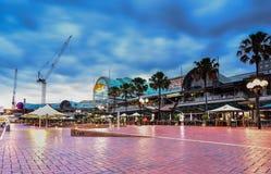 SYDNEY, AUSTRALIA - JULY 6, 2015 : Night scene of Darling Harbour Stock Images