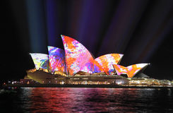 Sydney Opera House in colour Sydney Vivid festival Stock Photos