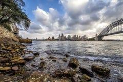 Sydney, Australia. Landscape view of Sydney CBD from Kirribilli area in North Sydney Stock Photo