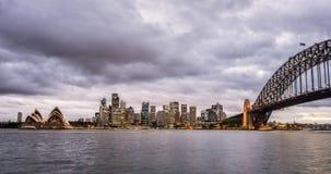 Sydney, Australia. Landscape view of Sydney CBD from Kirribilli area in North Sydney Royalty Free Stock Photography
