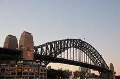 SYDNEY, AUSTRALIA - 5 MAGGIO 2018: Sydney Harbour Bridge, che è fotografia stock libera da diritti