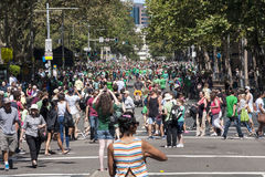 SYDNEY, AUSTRALIA - Mar 17TH: Crowds celebrating St Patrick's Da Royalty Free Stock Photography