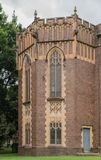 University of Sydney Wesley College tower, Australia. Sydney, Australia - March 25, 2017: Brown brick castle-like corner tower of Wesley College at University Stock Images