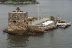Denison Fort island in Sydney harbor bay, Australia. Stock Images