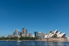 Opera House and Sydney skyline, Australia. Royalty Free Stock Image