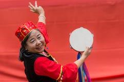Chinese Australian dancer welcomes premier Li Keqiang, Sydney Au Royalty Free Stock Images