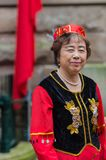 Chinese Australian dancer welcomes premier Li Keqiang, Sydney Au Stock Photo