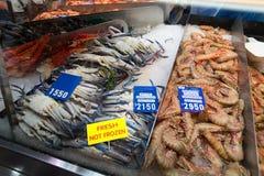 SYDNEY, AUSTRALIA - MARCH 19, 2015: Prawns on the Sydney Fish Ma Royalty Free Stock Photography
