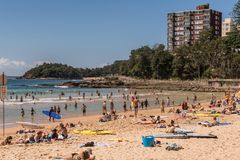 South section of Manly Beach, Sydney Australia. Stock Images