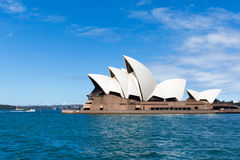SYDNEY, AUSTRALIA - MARCH 22, 2015: Side view of Sydney's most f Royalty Free Stock Photos