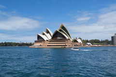 SYDNEY, AUSTRALIA - MARCH 22: Side view of Sydney's most famous Royalty Free Stock Photo