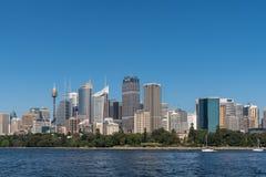 Sydney Skyline under blue sky, Australia. Royalty Free Stock Photo