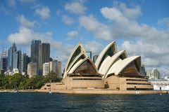 Sydney Opera House in the background of skyscrapers Stock Photography