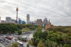 View Over Hyde Park Sydney Royalty Free Stock Photo