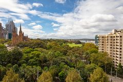 View Over Hyde Park Sydney Royalty Free Stock Photos