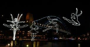 Ballerina at Circular Quay. Sydney, Australia - May 27, 2019. Ballerina at Circular Quay, Harbour Bridge in the background. Along the harbour's edge, the stock photo