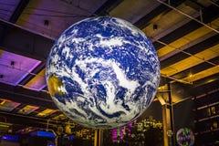 Earth at Vivid Sydney 2018 stock photography