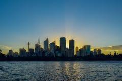 Sydney, Australia - May 7, 2105: The Sydney CBD Stock Photography