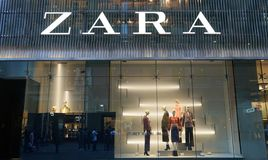 Zara clothing and accessories store on Market Street in Sydney, Australia. stock images