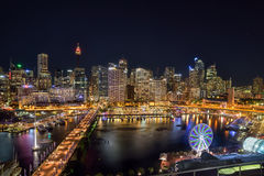 SYDNEY, AUSTRALIA - November 12, 2016 : Darling Harbour, adjacen. T to the city center of Sydney and also a recreational place in Sydney central business Royalty Free Stock Image