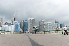 SYDNEY, AUSTRALIA - NOVEMBER 10, 2014: Darling Harbour Bridge with People. Sydney, Australia. Stock Photography