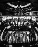 Abstract Mirror World in black and white. Sydney, AUSTRALIA - November 2, 2017: Dynamic and almost abstract interior in black and white of the new City Stock Image