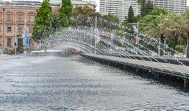 SYDNEY, AUSTRALIA - NOVEMBER 10, 2014: Fountain in Hyde park in Sydney, Australia Stock Images