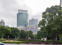 SYDNEY, AUSTRALIA - NOVEMBER 10, 2014: Hyde park and Cityscape in Sydney, Australia Stock Image