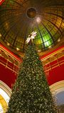 The iconic Queen Victoria Building unveils its Swarovski Christmas tree. Sydney, Australia - November 03, 2017: The iconic Queen Victoria Building unveils its Royalty Free Stock Photos