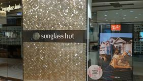 Sunglass Hut is an international chain of sunglass stores owned by Italian company Luxottica. Sydney, Australia - November 03, 2017: Sunglass Hut is an Royalty Free Stock Photos