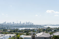 SYDNEY, AUSTRALIA - NOVEMBER 18, 2014: Sydney Harbour and Opera House. Cityscape. Darling Point, Point Piper. Stock Image