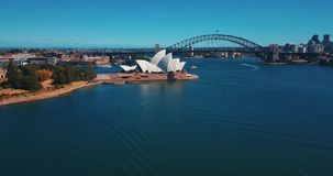 Sydney Opera House aerial view from the helicopter