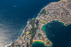 SYDNEY, AUSTRALIA - OCT 23 2014: From the air view of Watsons Ba Stock Photography