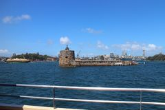 SYDNEY, AUSTRALIA - OCTOBER 16, 2018: Fort Denison, part of the Sydney Harbour National Park stock photos