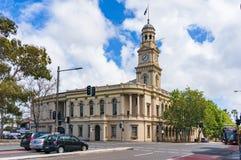 Paddington Town Hall building on Oxford street on sunny day. Sydney, Australia - October 18, 2017: Paddington Town Hall building on Oxford street on sunny day Royalty Free Stock Photos