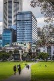 SYDNEY, AUSTRALIA - OCTOBER, 27: Shady park - a place for recrea Royalty Free Stock Photos