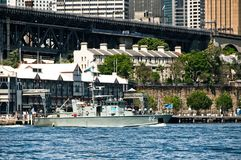 SYDNEY, AUSTRALIA - October 5th. 2013: Warships at Australian N royalty free stock photography