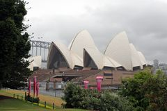 SYDNEY, AUSTRALIA - Opera House. SYDNEY, AUSTRALIA - FEBRUARY 01, 2019: Opera House from other side than frontal. Equally admirable roof structure of this royalty free stock photography