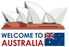 Sydney Australia Opera House Landmark illustration libre de droits