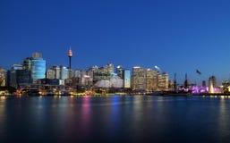 SYDNEY, AUSTRALIA - 26 ottobre 2015: Scena di notte di Darling Ha Fotografia Stock Libera da Diritti