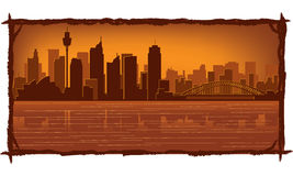 Sydney Australia skyline. Sydney, Australia skyline illustration with reflection in water Stock Photos