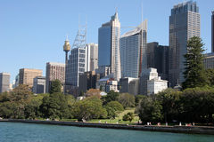 Sydney, Australia skyline. From the harbour Royalty Free Stock Image