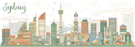 Sydney Australia Skyline avec des bâtiments de couleur illustration de vecteur