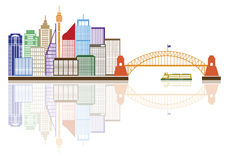 Sydney Australia Skyline Color Vector Illustration Stock Photo