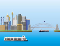 Sydney Australia Skyline Illustration Royalty Free Stock Photos