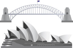Sydney Australia Skyline Landmarks Stock Photos