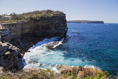 Sydney, Australia - 2017: South and North head. Picture taken from the cliffs of the other side of watson bay Stock Photography