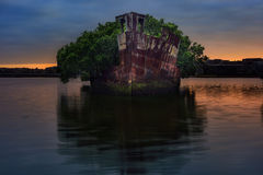 Sydney, Australia, The sunrise with shipwreck on the reef, Homeb Royalty Free Stock Image