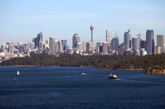 Sydney Australia view with city skyline, harbour Royalty Free Stock Photo